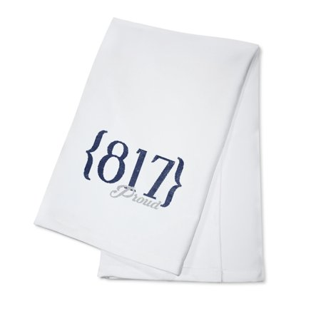 Fort Worth, Texas - 817 Area Code (Blue) - Lantern Press Artwork (100% Cotton Kitchen (Fort Worth Tx Zip Code And Area Code)