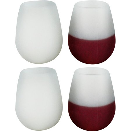 Southern Homewares Silicone Wine Glasses, Set of (Chardonnay White Wine Glass)