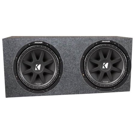 "2) Kicker 43C154 Comp C15-4 15"" Car Audio Subwoofers + Sealed Sub Box Enclosure"