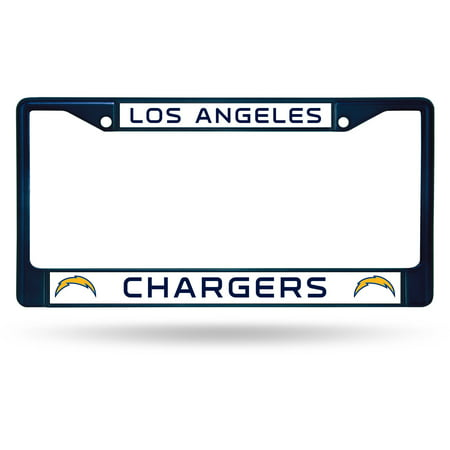 Navy Art Glass Frame - Rico Industries NFL Color License Plate Frame, Los Angeles Chargers