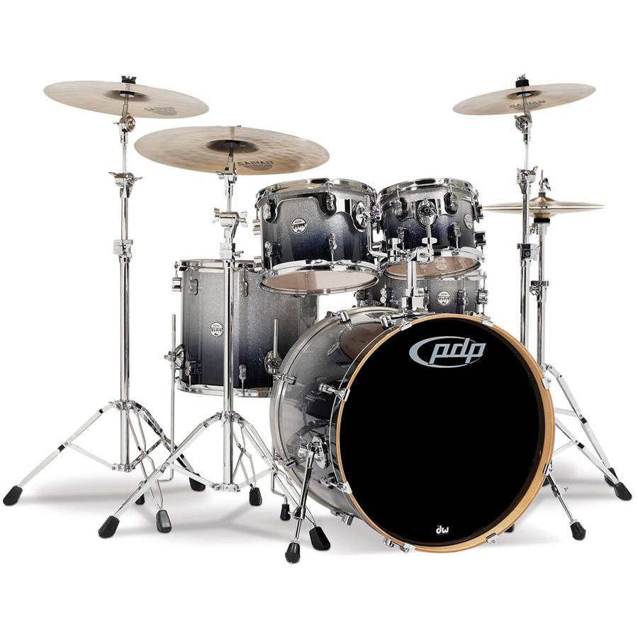 Pacific Drums CM5 Concept Maple 5-Piece Shell Pack - Silver Black Fade