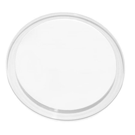 """Acrylic Round 10x Magnifying 3 Suctions Cups Mirror Clear Finish - 5.5""""x 0.50 x 7.5""""H"""