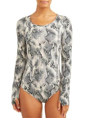 Sofia Jeans High Neck Full Coverage Bodysuit Women's (Animal Snake Print)