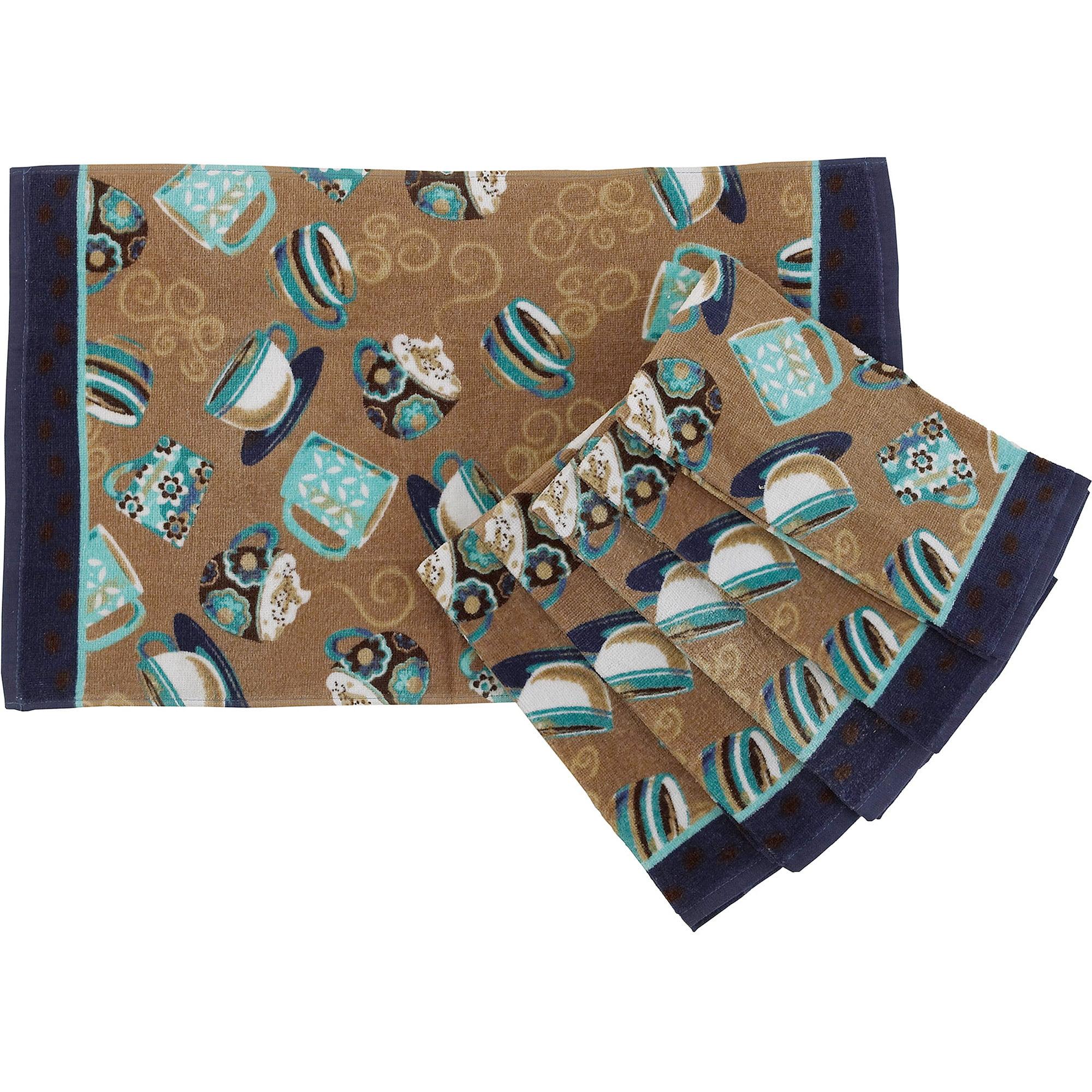 mainstays coffee kitchen towel set of 6 walmartcom - Kitchen Towel Sets