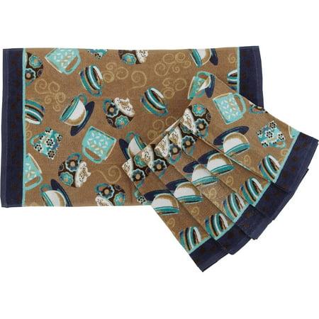 Mainstays Coffee Kitchen Towel Set Of 6