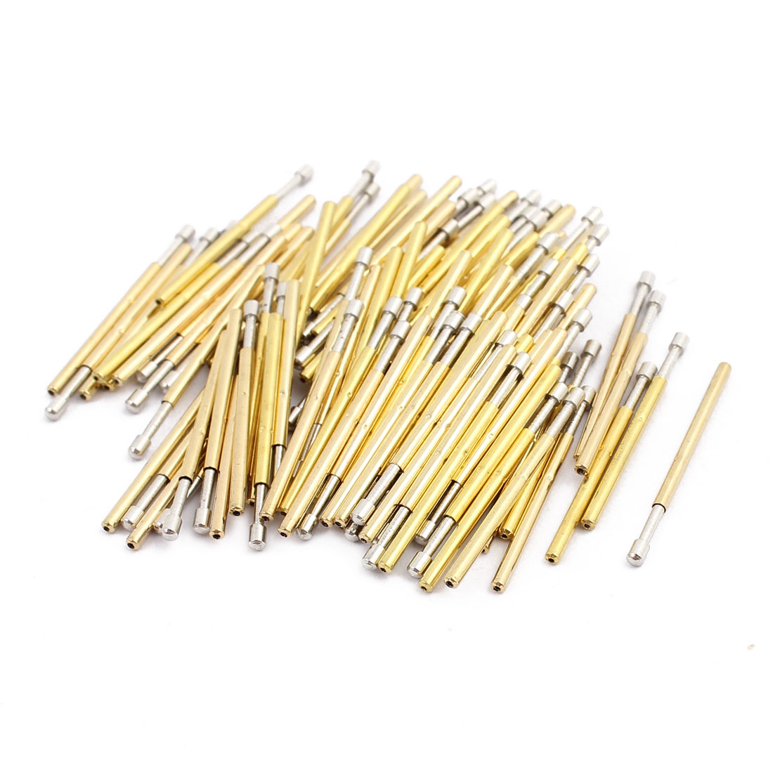 100pcs P160-D2 1.36mm Dia 24.5mm Length Metal Spring Pressure Test Probe Needle