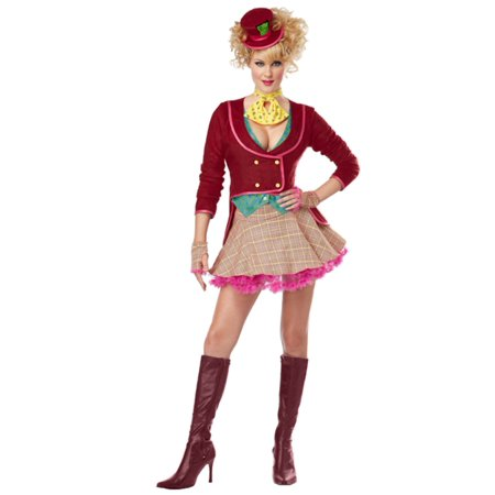 California Costumes Womens Mad Hatter Costume Medium (8-10)  - Size - Medium (8-10) - Mad Hatter Woman Costume