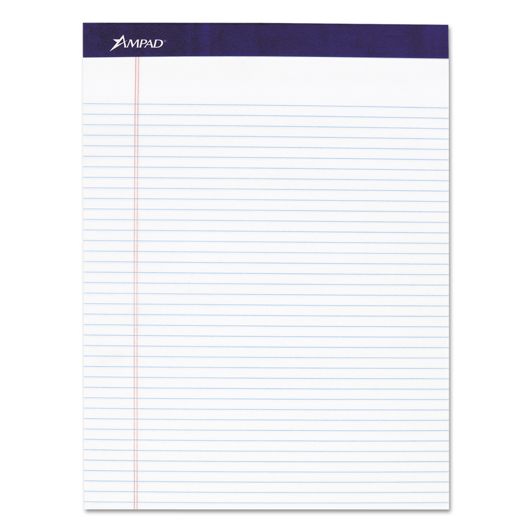 Ampad Mead Legal Ruled Pad, 8 1/2 x 11, White, 50 Sheets, 4 Pads/Pack