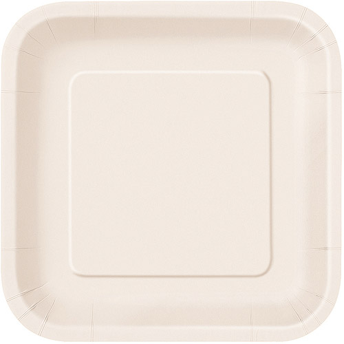 Square Paper Plates 7 in Ivory 16ct  sc 1 st  Walmart & Square Paper Plates