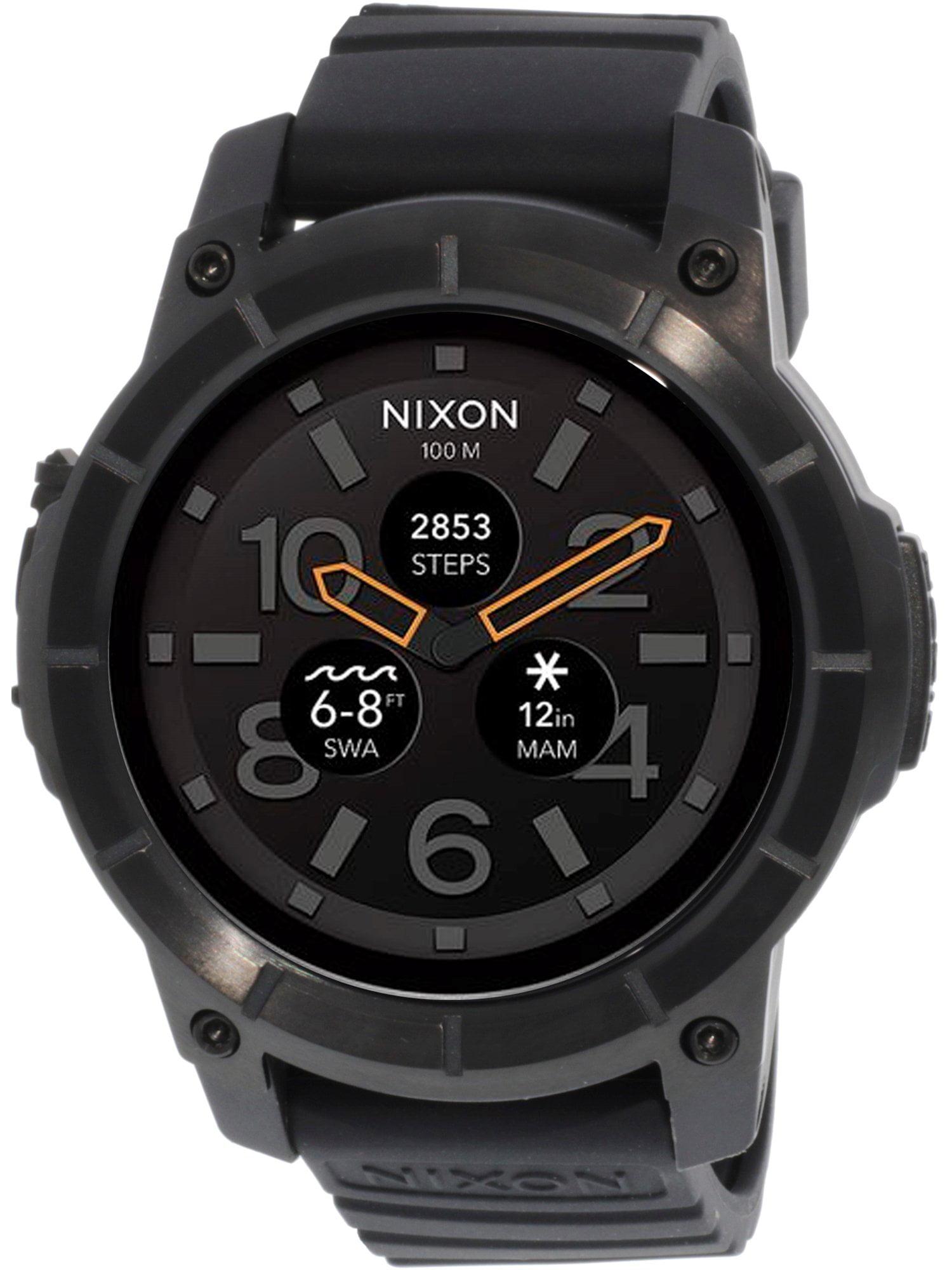 Nixon Men's Mission A1167001 Black Rubber Wear OS by Google Smart Watch