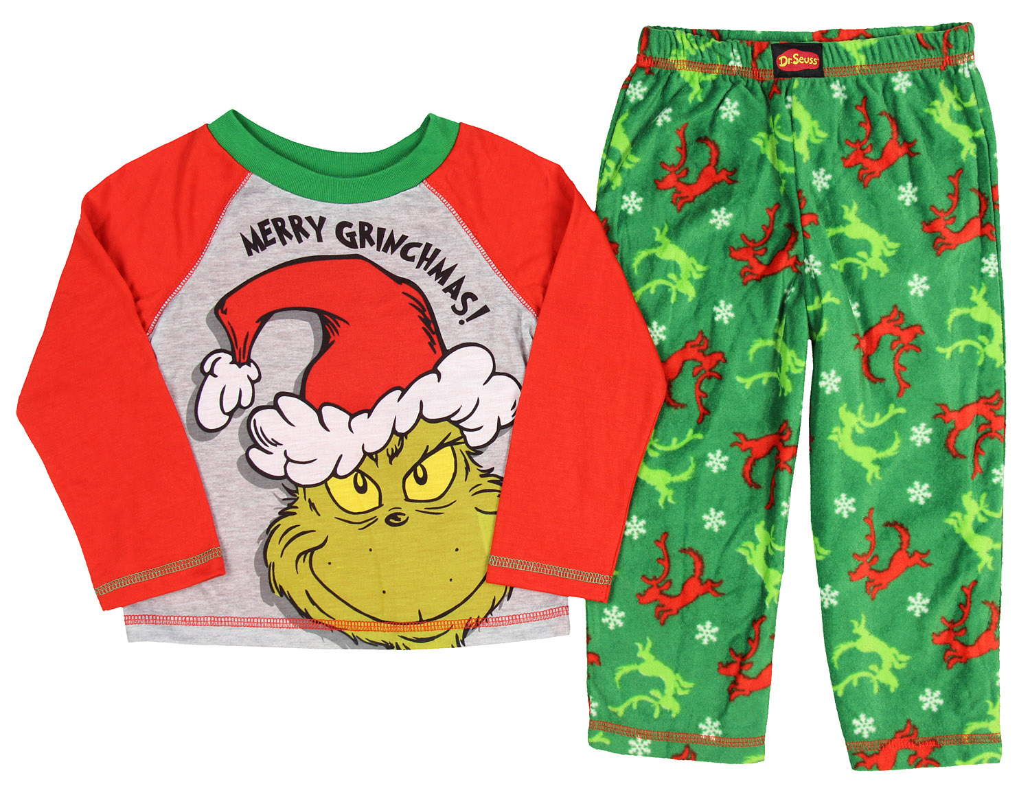 The Grinch Merry Grinchmas Christmas Holiday Boys/' Toddler Pajama Set