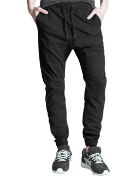skylinwears men's casual jogger pants elastic waistband twill cargo trousers chino wine 38