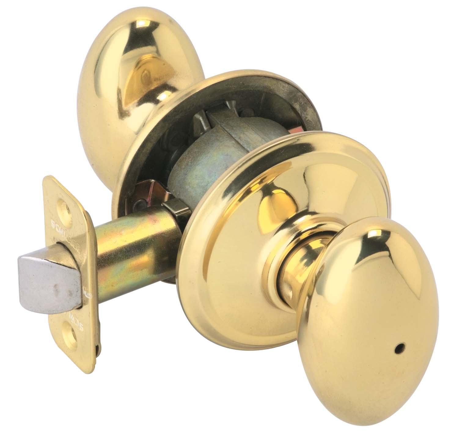Schlage F40VSIE605 Bright Brass Siena Privacy Knob