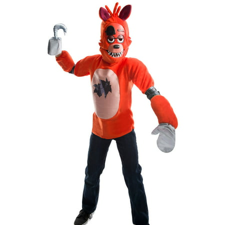 Five Nights At Freddys Kids Deluxe Foxy Costume - Costumes At Walmart