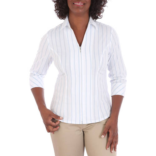 Riders by Lee Women's 3/4 Sleeve Classic Career Shirt