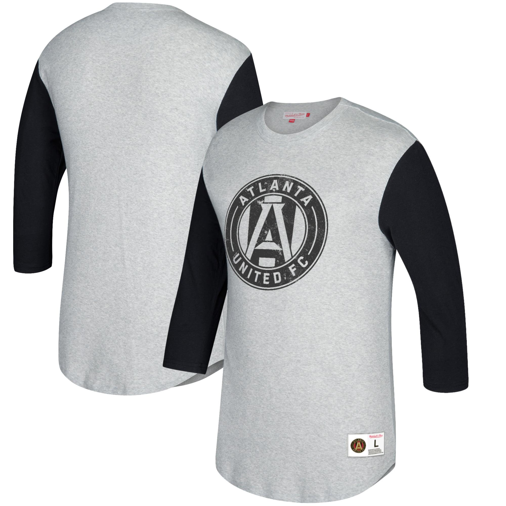 Atlanta United FC Mitchell & Ness Scoring Position 3/4-Sleeve T-Shirt - Heathered Gray