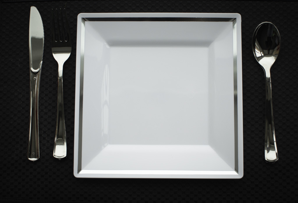 Imperial 300 Guest Bundle - Trendy Square Plastic Plates with Silverware  sc 1 st  Walmart.com & Imperial 300 Guest Bundle - Trendy Square Plastic Plates with ...