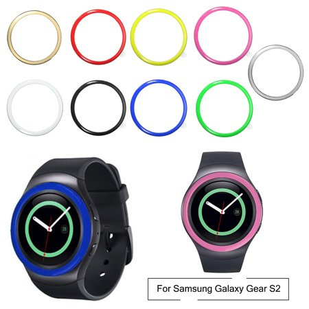 (For Samsung Gear S2 Bezel Stainless Steel Bumper Ring Watch Case Cover Protector)