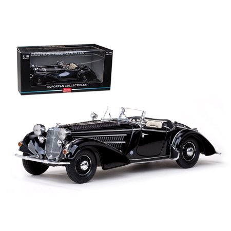 1939 Horch 855 Roadster Black 1/18 Diecast Car Model by (855 Car)