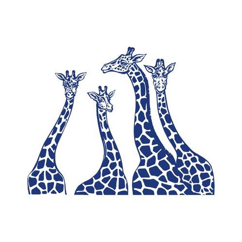 Decal House Giraffe Family Wall Decal