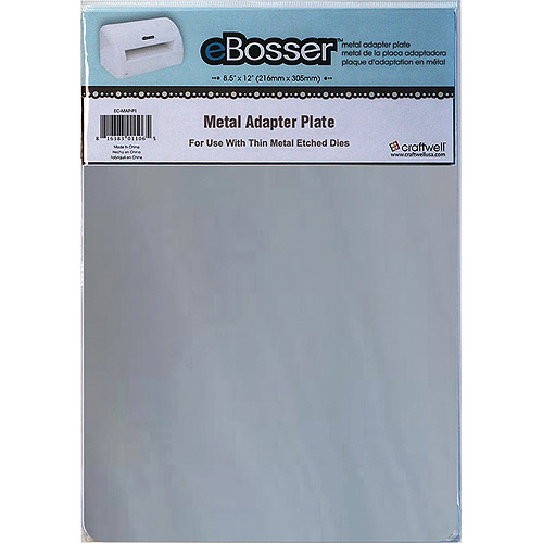 "eBosser Metal Adapter Plate, 8.5"" x 12"", For Use with Thin Metal Etched Dies"