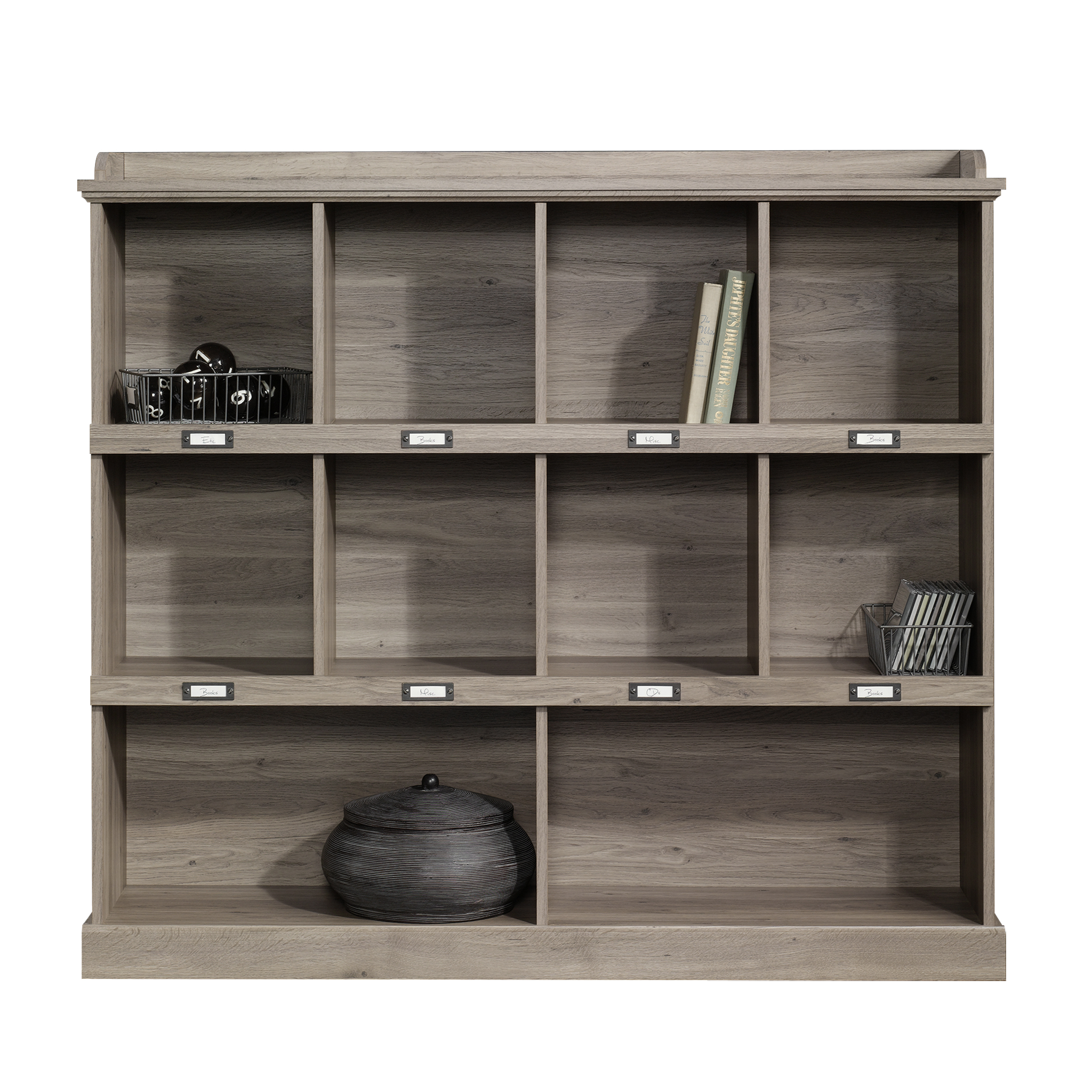Sauder Barrister Lane Bookcase Salt Oak Finish Walmart Com