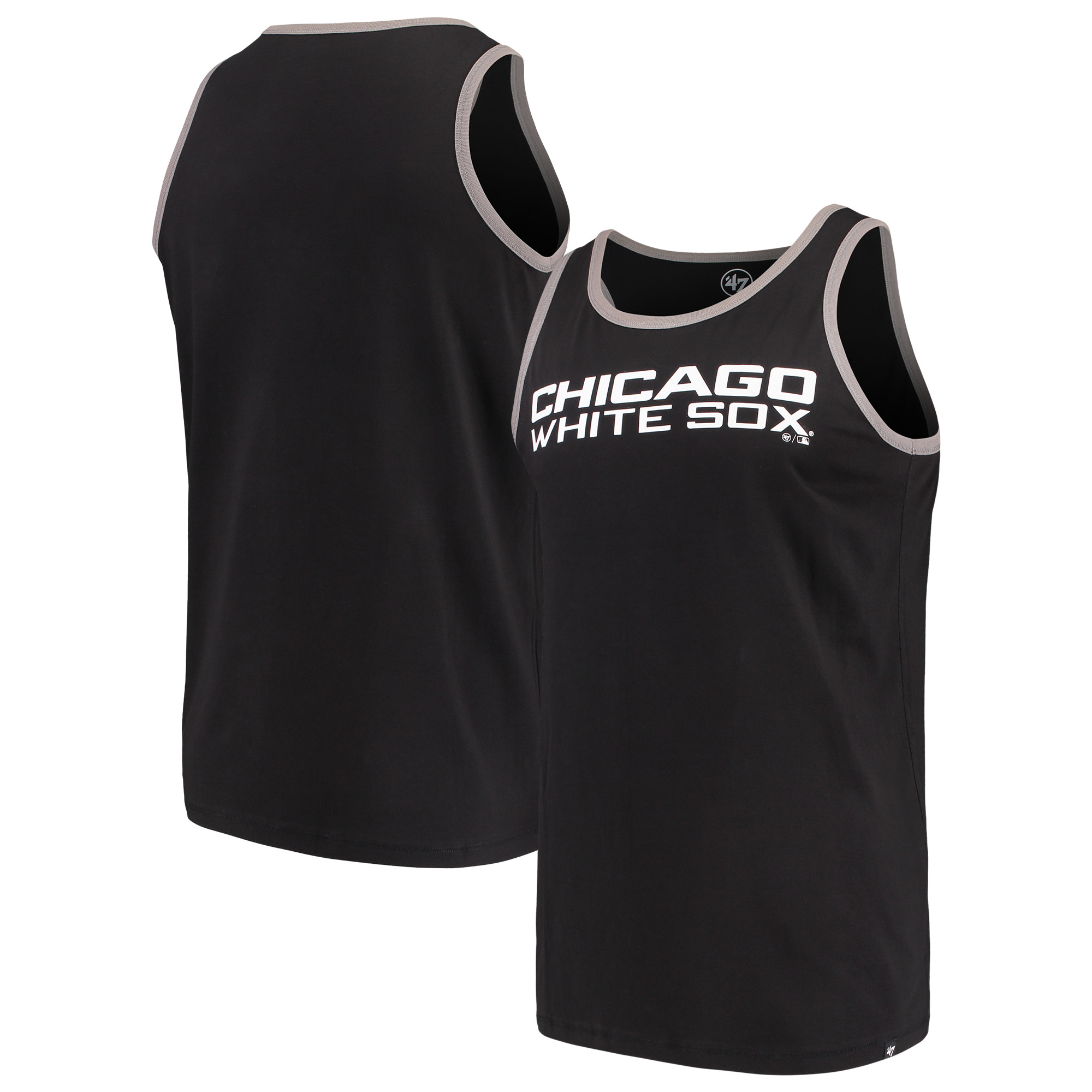 Chicago White Sox '47 Wordmark Crosstown Tank Top - Black
