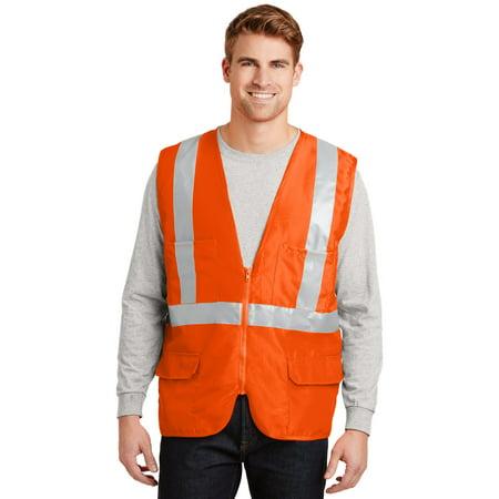 Cornerstone® - Ansi 107 Class 2 Mesh Back Safety Vest. Csv405 Safety Orange 4Xl - image 1 de 1