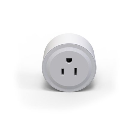 Portable Intelligent Automatic Mini Socket Wifi Plug Wi-Fi Enabled App Remote Control Wireless Timer with ON/OFF Switch for Light Electrical Appliance for Compatible (Energy Controls In Wall Timers)