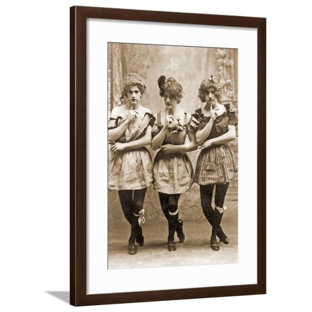 Yale Students in Drag, C.1883 Framed Print Wall Art