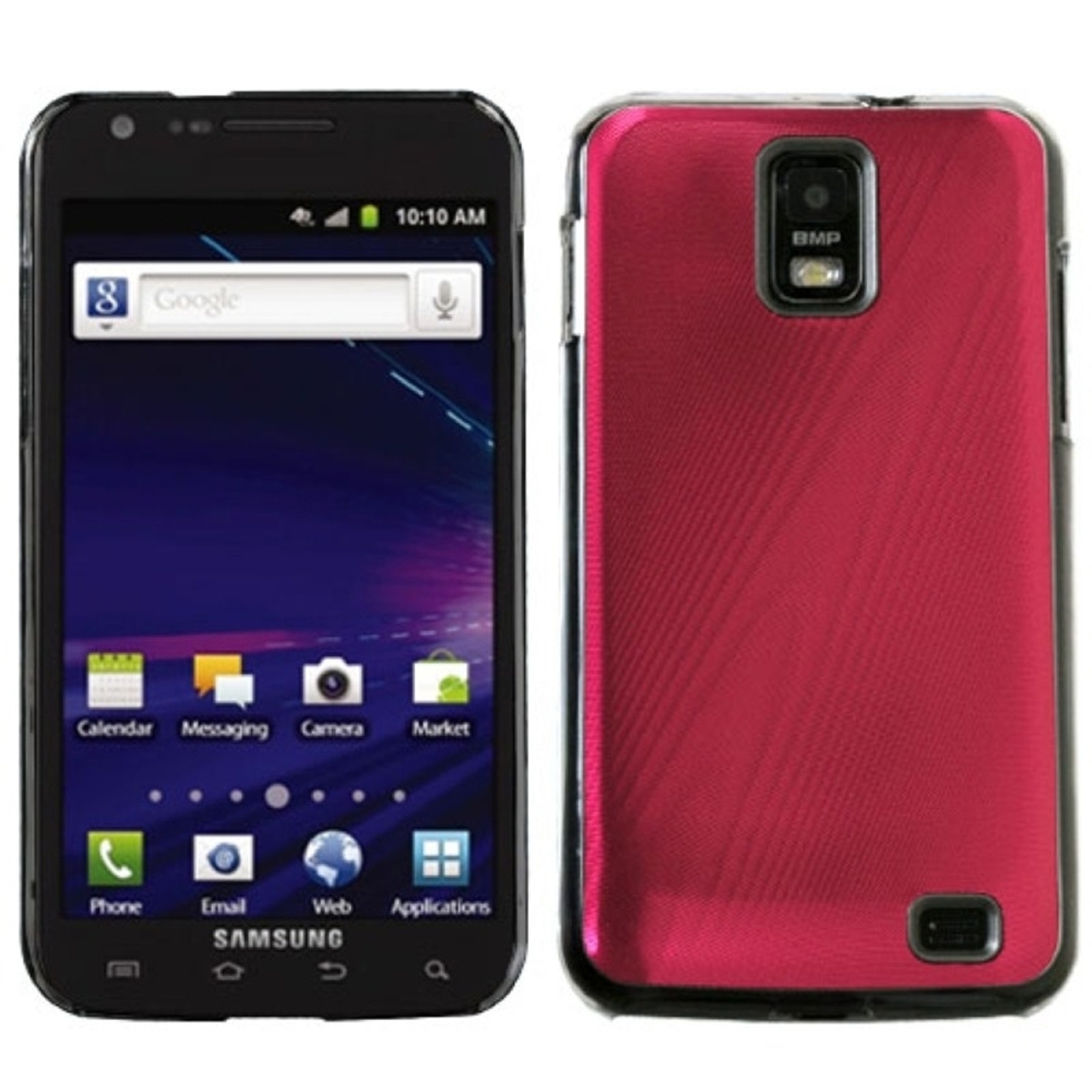 Insten Red Cosmo Back Case for SAMSUNG: i727 (Galaxy S II Skyrocket)