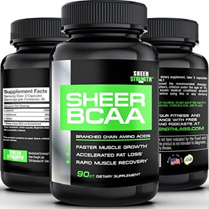 SHEER BCAA Capsules - #1 Best Branched Chain Amino Acids Post Workout Supplement Builds Muscle and Burns Fat Fast - Full 30 Day Supply