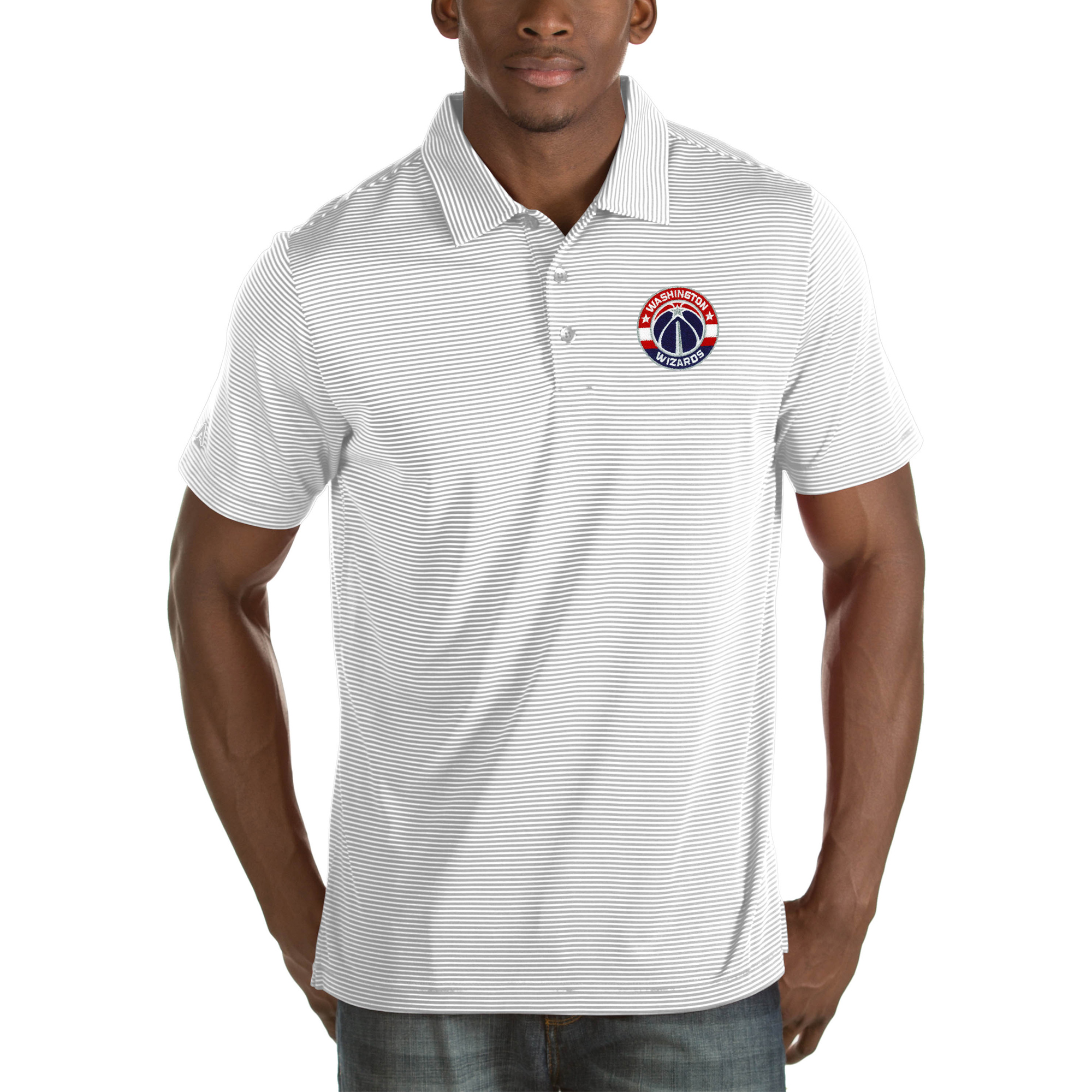 Washington Wizards Antigua Quest Big & Tall Polo - White