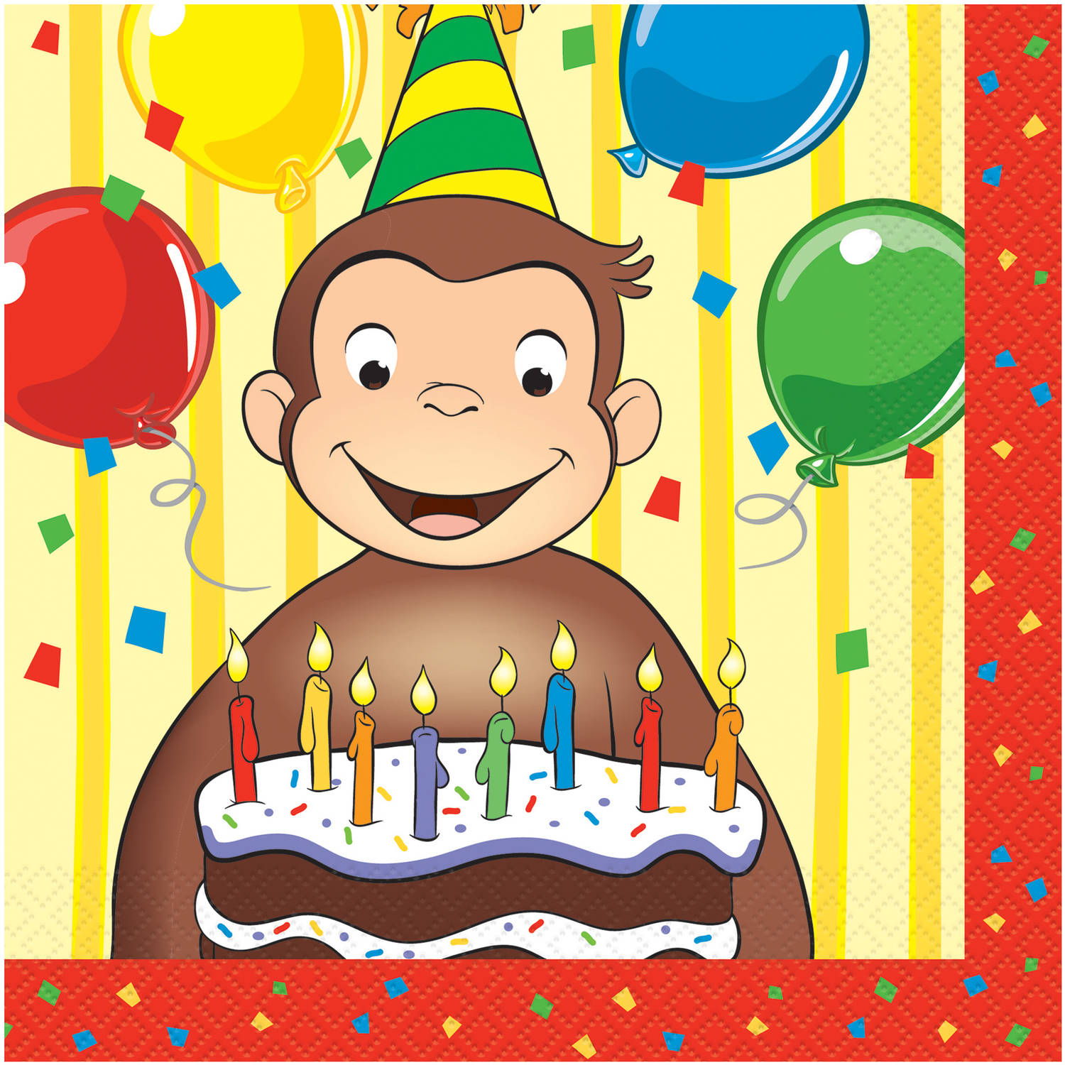 Curious George Luncheon Napkins, 16pk