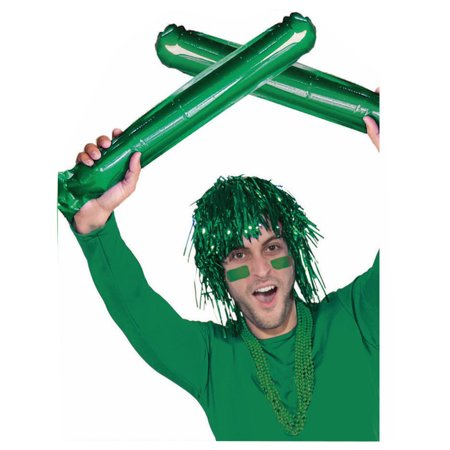 2 Cheerleader Team School Spirit Rally Green Inflatable Colored Spirit Sticks - Cheerleader Supplies