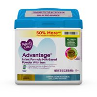 Parent's Choice Advantage Non-Gmo* Infant Formula Milk-Based Powder, 35 oz, 4 Pack