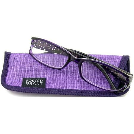 18632241a002 Foster Grant Women's Dazzling Reading Glasses, Purple - Walmart.com