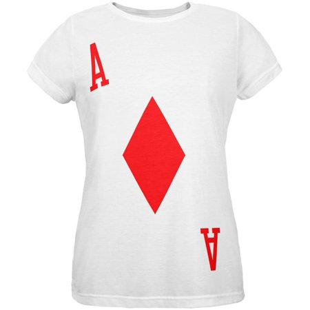 Halloween Ace of Diamonds Card Soldier Costume All Over Womens T Shirt](Short Halloween Card Sayings)