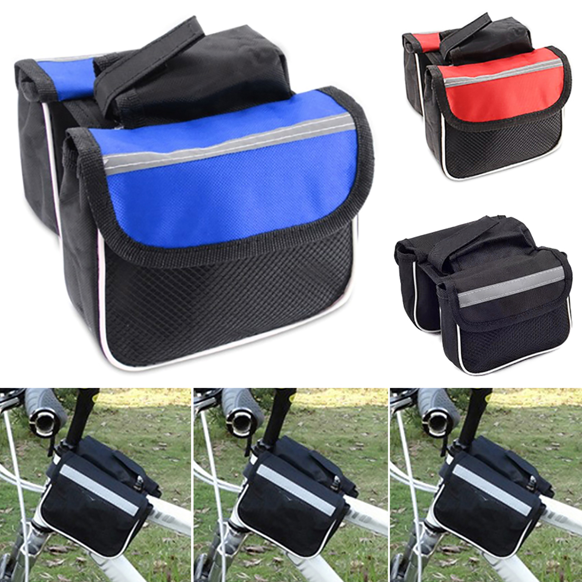 Bike Bicycle Cycling Mountain Frame Front Tube Pannier Saddle Bag Tube Pouch D//C