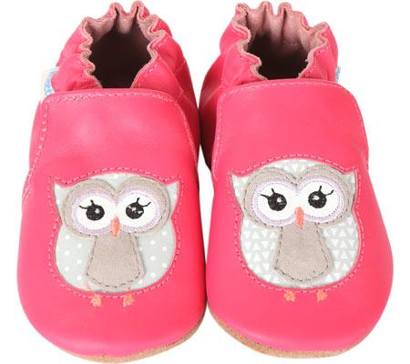 Infant Girls' Robeez Owl Playmates Crib Shoe by