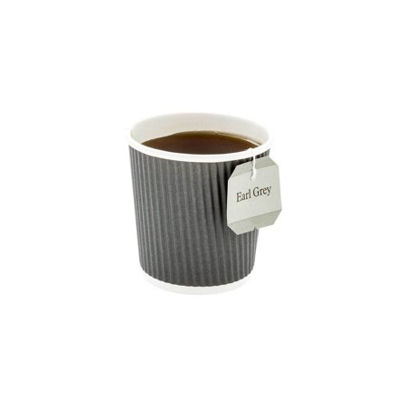 4 oz Gray Paper Coffee Cup - Ripple Wall - 2 1/2