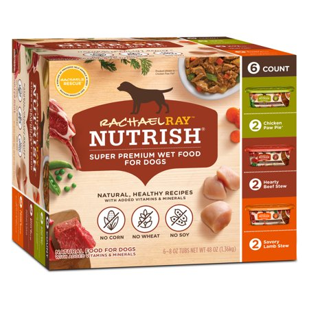 Rachael Ray Nutrish Natural Wet Dog Food Variety Pack, 8 oz tubs, Pack of (Best Wet Dog Food For Puppies)