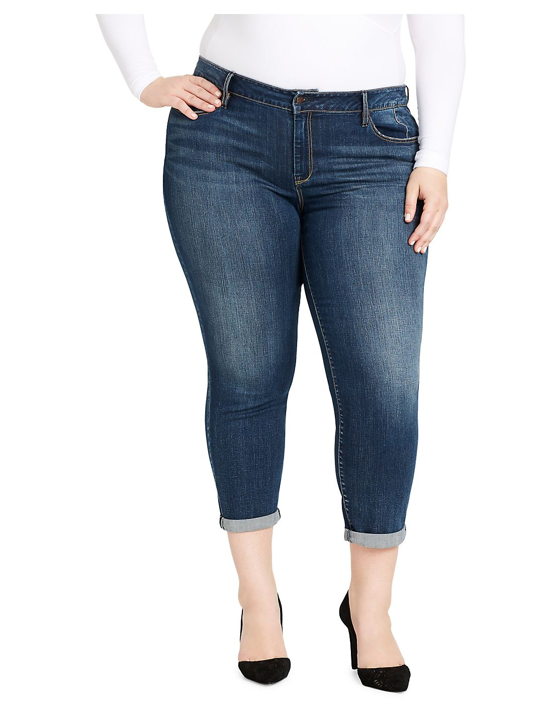 Plus Rolled Cuff Jeans