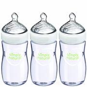 NUK Simply Natural Bottle, 9 oz, 3-Pack