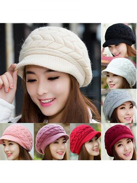 c0248742ccf Product Image Women s Winter Solid Color Warm Knitted Baggy Beret Beanie Hat  Slouch Ski Cap