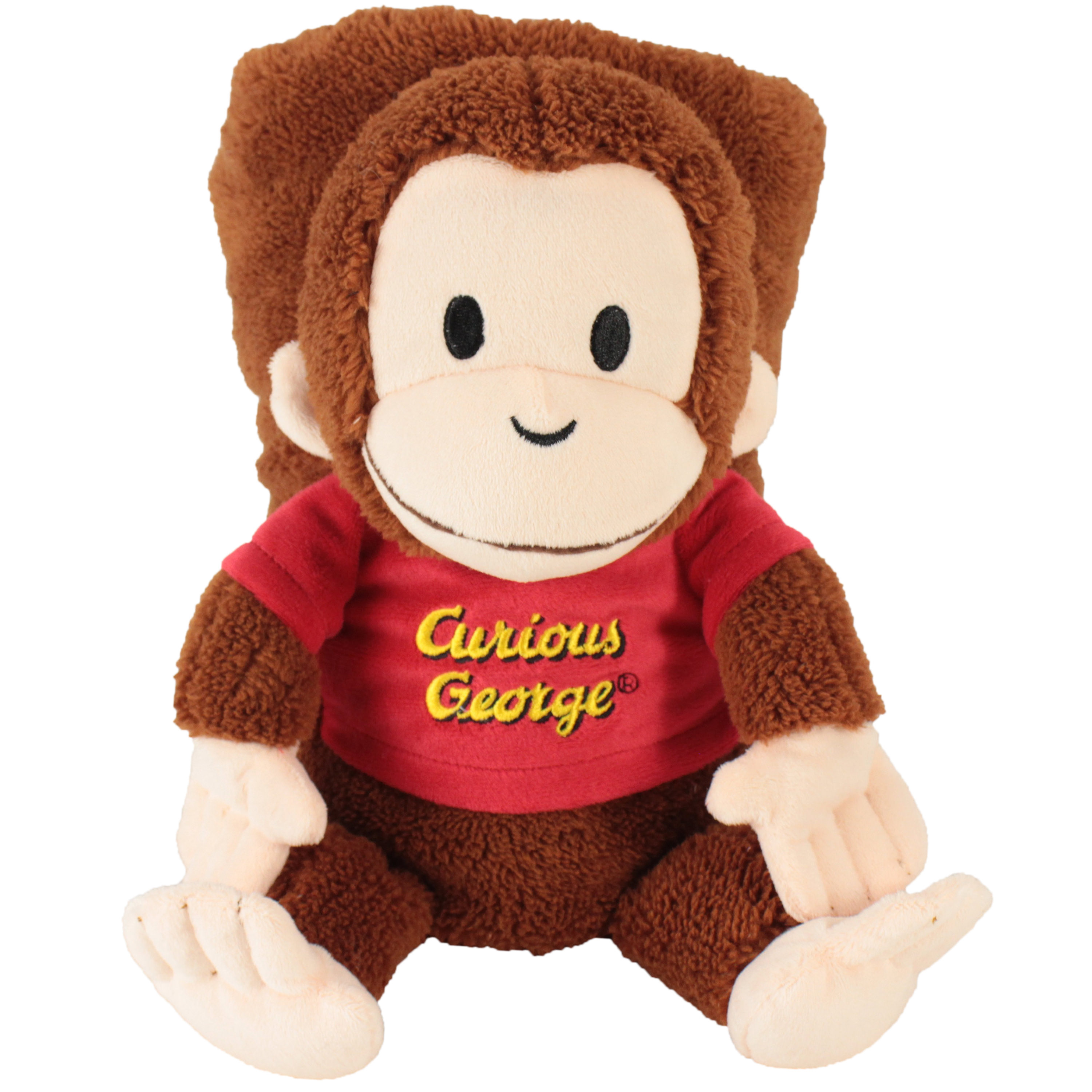 "My Pet Blankie's Curious George Blankie | Soft and Cuddly Plush Blankie | 26"" x 39"" 