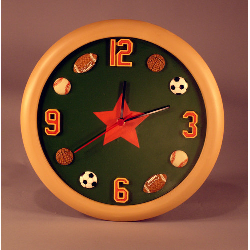 Judith Edwards Designs Sports 12'' Clock