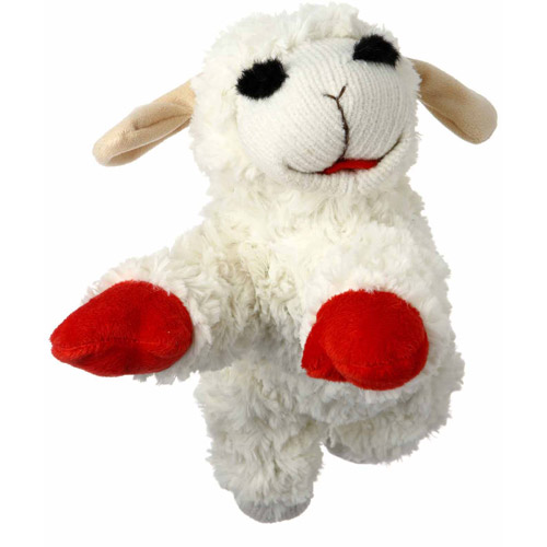 "Multipet International Inc. 10"" Lamb Chop Dog Toy"