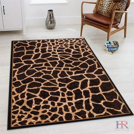 Handcraft Rugs Animal Skin Rug Print Area Giraffe