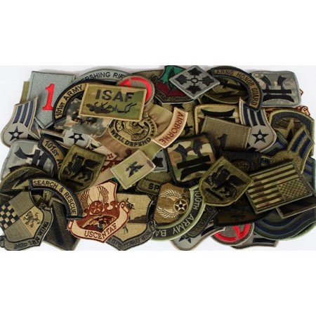 Lot of 60 Assorted US Military Army & Air Force Unit Insignia Subdued - Air Command Subdued Patch